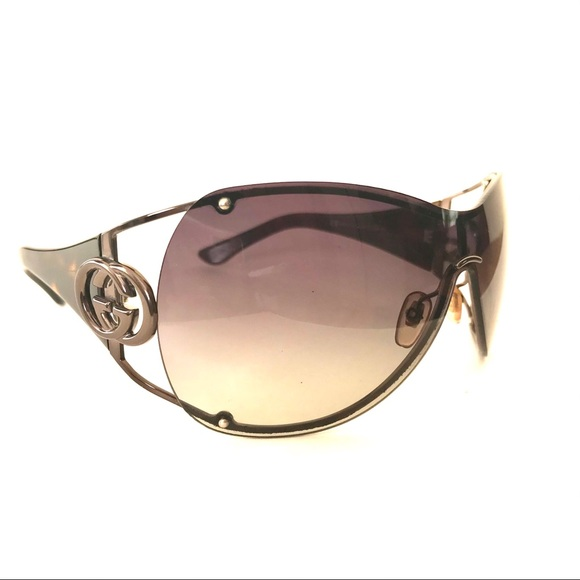 Gucci Tortoise Wrap Around Sunglasses Shades